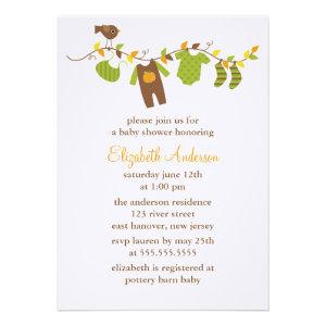 Autumn Baby Shower Invitations