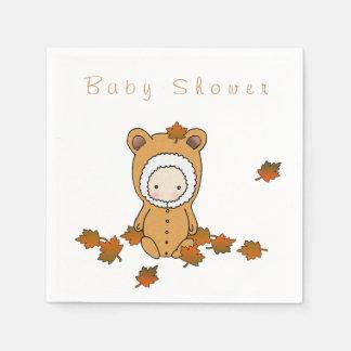 Autumn Baby Shower Paper Napkins