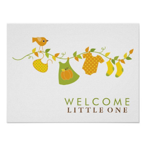 Autumn Baby Shower Sign Posters