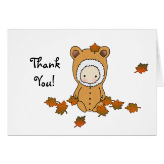 Autumn Baby Shower Thank You Card