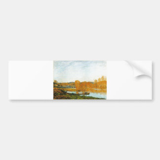 Autumn Banks ofthe Seine near Bougival 1873 Sisley Bumper Sticker