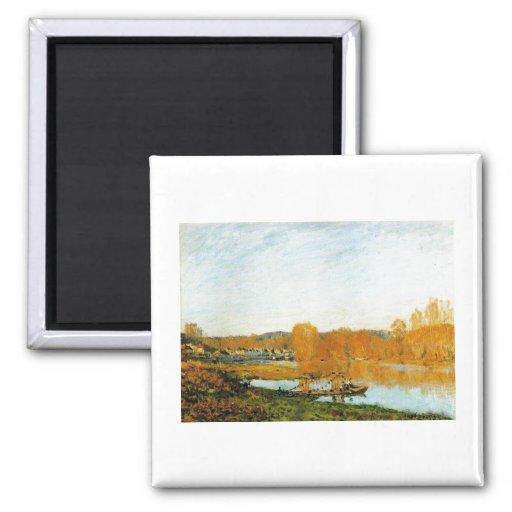 Autumn Banks ofthe Seine near Bougival 1873 Sisley Refrigerator Magnet