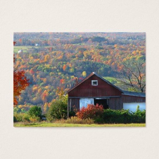 Autumn Barn and Hills ATC Business Card