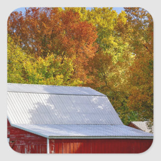 Autumn Barn Square Sticker