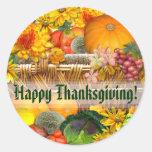 Autumn Basket ~ Envelope Seal/sticker Classic Round Sticker