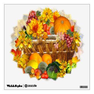 Autumn Basket ~ Wall Decal