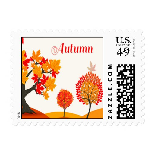 Autumn Beauty Postage Stamps