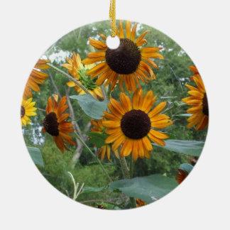 Autumn Beauty Sunflowers in the Garden Christmas Ornaments