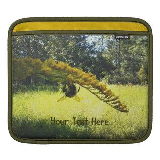 Autumn Bee Goldenrod Botanical Floral iPad Sleeves