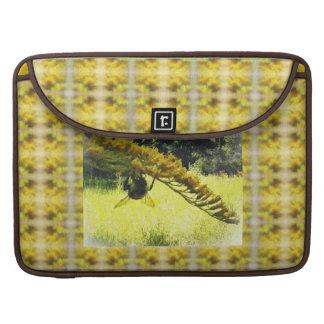 Autumn Bee Goldenrod Botanical Floral MacBook Pro Sleeves
