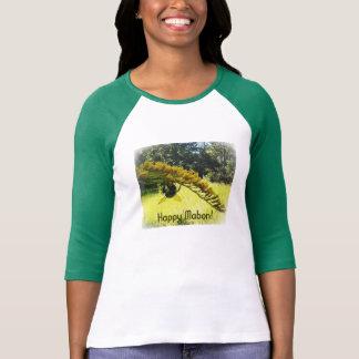 Autumn Bee Goldenrod Botanical Floral T-Shirt