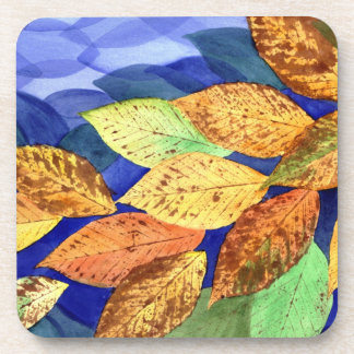 Autumn Beech Leaves Coasters