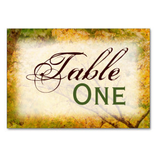 Autumn Begins Table Cards