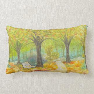 Autumn Bench large pillow