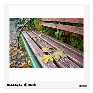 Autumn Bench Wall Decal