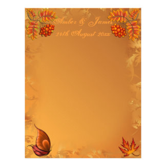 "Autumn Berries Guest Message Paper 8.5"" X 11"" Flyer"