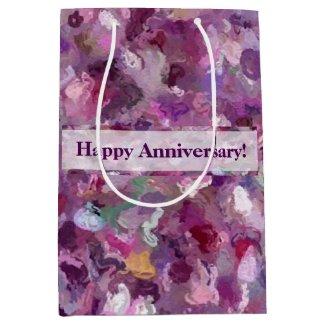 Autumn Berries Paint Splashes 9887 Medium Gift Bag
