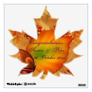 Autumn Berries Wedding Congratulations Wall Sticker