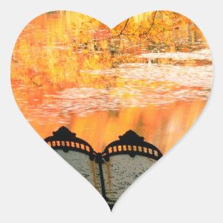 Autumn Best Seat In House Louisville Kentucky Heart Sticker