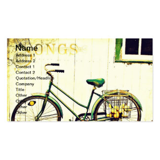 Autumn Bicycle Songs Business Card