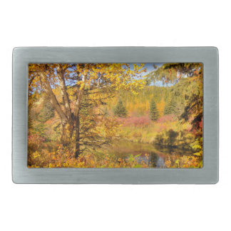 Autumn Birch Tree Belt Buckle