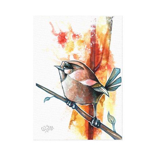 Autumn Bird Canvas Print