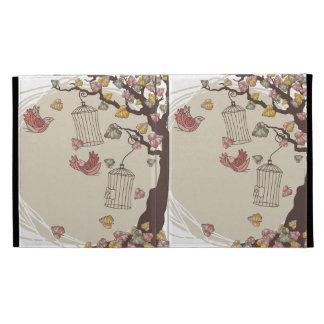 autumn birds iPad folio covers