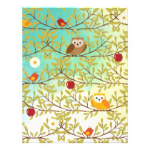Autumn birds flyer