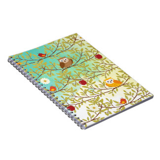 Autumn birds notebook