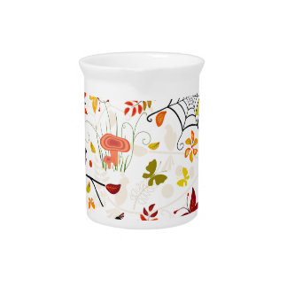 autumn birds pitcher