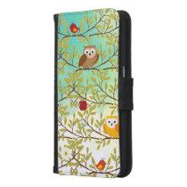 Autumn birds samsung galaxy s6 wallet case