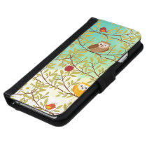 Autumn birds wallet phone case for iPhone 6/6s