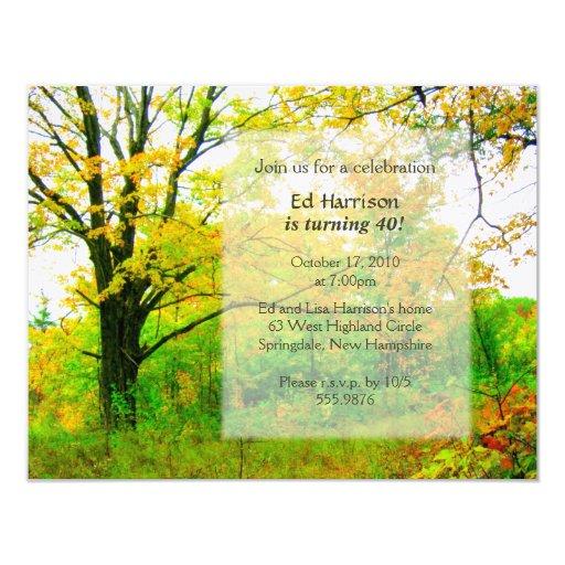 Autumn Birthday Party Invitation Template