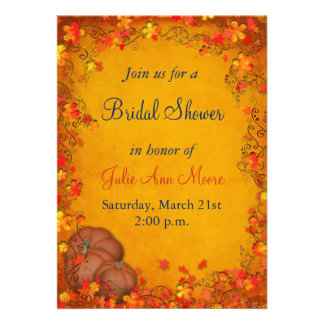 Autumn Bliss Bridal Shower Custom Invitation