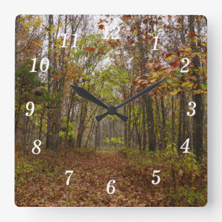 Autumn Bliss Square Wall Clock