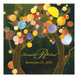 Autumn Bliss Tree Theme Monogram Wedding Invites