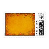 Autumn Bliss Wedding Postage Stamp