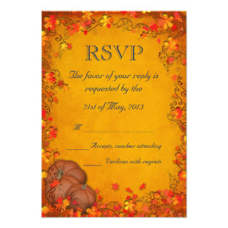 Autumn Bliss Wedding RSVP Announcement
