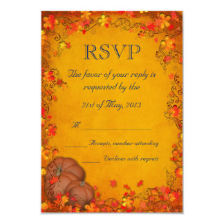 Autumn Bliss Wedding RSVP 3.5x5 Paper Invitation Card