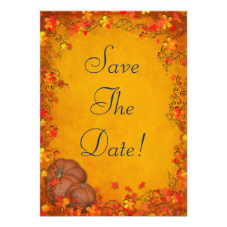 Autumn Bliss Wedding Save The Date Personalized Invites