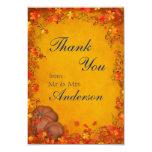 Autumn Bliss Wedding Thank You Card