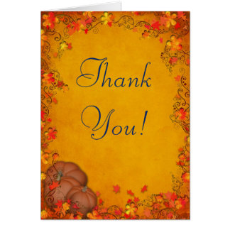 Autumn Bliss Wedding Thank You Greeting Cards