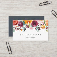Autumn Bloom | Floral Business Card