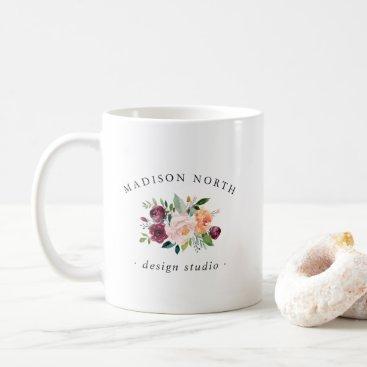 Professional Business Autumn Bloom | Floral Logo Coffee Mug
