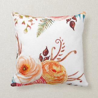 """Autumn Blooms"" Throw Pillow"