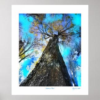 Autumn Blue Posters