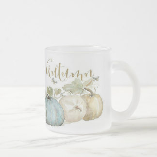 Autumn Blue Pumpkin Frosted Mug