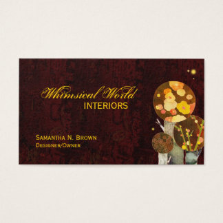 Autumn Boho Trees Personalized Business Cards