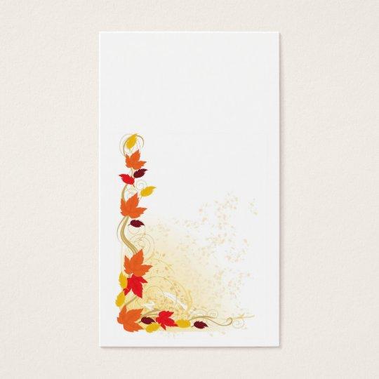 Autumn Border Business Card