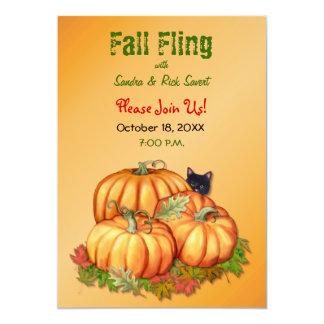 Autumn Bounty Fall Fling 5x7 Paper Invitation Card